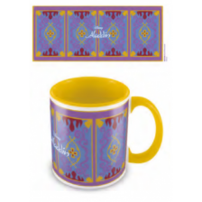 Pyramid Coloured Inner Mugs - Aladdin (Magic Carpet) Yellow