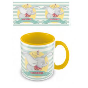 Pyramid Coloured Inner Mugs - Dumbo (The Flying Elephant) Yellow