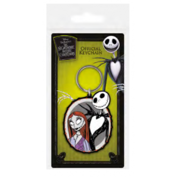 Pyramid Rubber Keychains - Nightmare Before Christmas (Jack & Sally)
