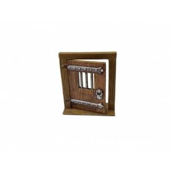 Ziterdes - Movable wooden door with bars, 2 pcs.
