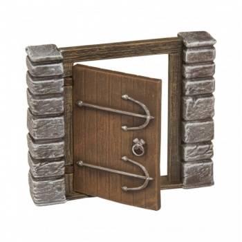 Ziterdes - Dunkelstadt - movable wooden door with fittings