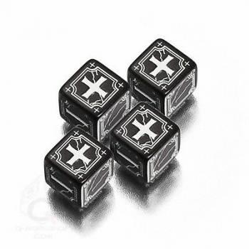 Antique Fudge Black & white 4D6 Dice