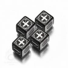 Antique Fudge Black & white 4D6 Dice