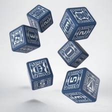 Battletech House Steiner D6 Dice set