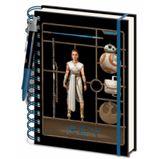 Pyramid A5 Wiro Notebook and Pen - Star Wars: The Rise of Skywalker (Rey Model)