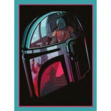 Pyramid Canvas Print - Star Wars: The Mandalorian (Helmet Section) 30cm x 40cm