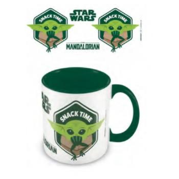 Pyramid Coloured Inner Mugs - Star Wars: The Mandalorian (Snack Time) Green