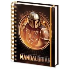 Pyramid A5 Wiro Notebook - Star Wars: The Mandalorian (Bounty Hunter)