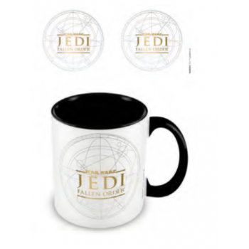 Pyramid Coloured Inner Mugs - Star Wars: Jedi Fallen Order (Logo) Black