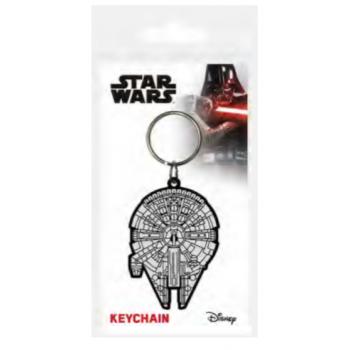 Pyramid Rubber Keychains - Star Wars (Millennium Falcon)