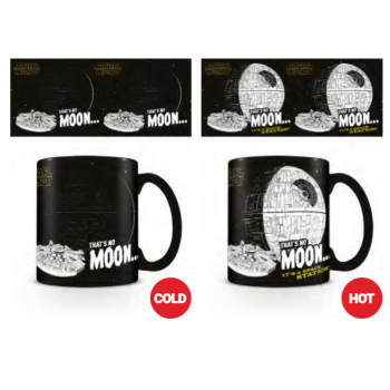 Pyramid Heat Changing Mugs - Star Wars (That's No Moon)