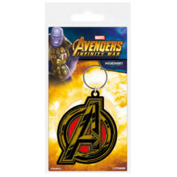 Pyramid Rubber Keychains - Avengers: Infinity War (Avengers Symbol)