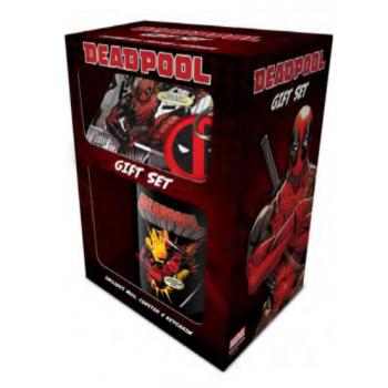 Pyramid Mug, Coaster and Keychain Sets - Deadpool (Merc Goals)