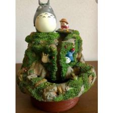 Ghibli - My Neighbor Totoro - Diorama Totoro & Mei play near the river