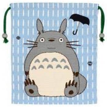 Ghibli - My Neighbor Totoro - Gray-Blue Totoro Cloth Bag