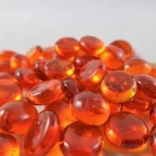 Chessex Gaming Glass Stones in Tube - Orange (40)