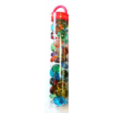 Chessex Gaming Glass Stones in Tube - Assorted Crystal (40)