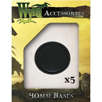40mm Premium Plastic Bases (5 pack)