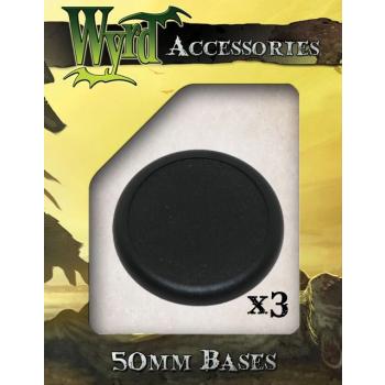 50mm Premium Plastic Bases (3 pack)