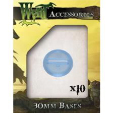 Blue 30mm Translucent Bases (10 pack)