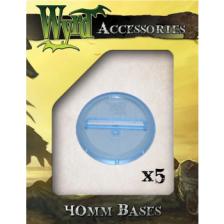Blue 40mm Translucent Bases (5 pack)
