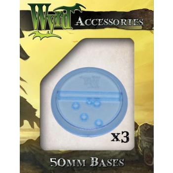 Blue 50mm Translucent Bases (3 pack)