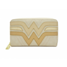 WW CREAM QUILTED FAUX LEATHER PURSE
