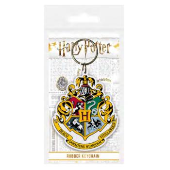 Pyramid Rubber Keychains - Harry Potter (Hogwarts Crest)
