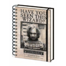 Pyramid A5 Wiro Notebook - Harry Potter (Wanted Sirius Black)