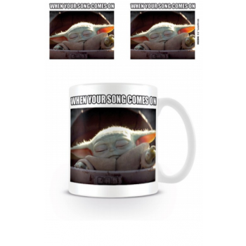 Pyramid Coffee Mug - Star Wars: The Mandalorian (When Your Song Comes On)