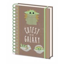 Pyramid A5 Wiro Notebook - Star Wars The Mandalorian (Cutest In The Galaxy)