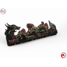 e-Raptor Card Holder S Dragon FullPrint Red