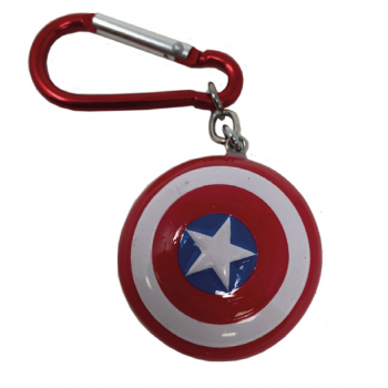 3D Polyresin Keychain - Captain America (Shield)