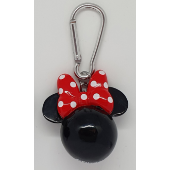 3D Polyresin Keychain - Minnie Mouse (Head)