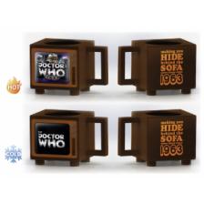 Retro TV Heat Change Mug - Dr Who (Hide Behind the Sofa)