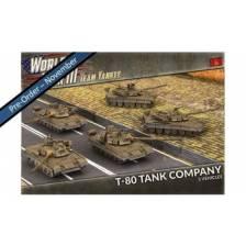 World War III Team Yankee - T-80 Tank Company (x5 Plastic)