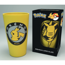 Premium Coloured Large Glasses - Pokemon Pikachu