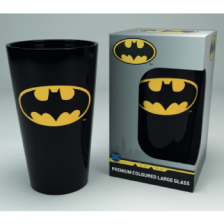 Premium Coloured Large Glasses - DC Comics Bat Symbol