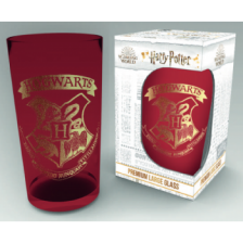 Premium Coloured Large Glasses - Harry Potter Emblem