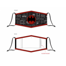 Warner - Batman - Adjustable Shaped Face Mask (1 Pack)