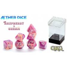 Aether Dice Rasberry and Cream (7 Dice Set)