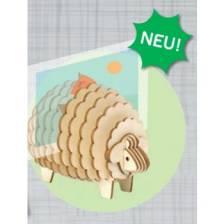 3D Holzpuzzle - Schaf