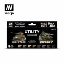 Vallejo Utility Paint Set WWII & WWIII
