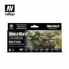 Vallejo WWIII British Armour & Infantry Paint Set