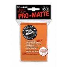 UP - Standard Sleeves - Pro-Matte - Non Glare - Orange (50 Sleeves)