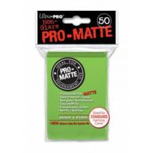 UP - Standard Sleeves - Pro-Matte - Non Glare - Lime Green (50 Sleeves)