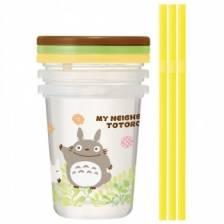 3 glasses with straw set - My Neighbor Totoro