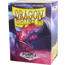 Dragon Shield Standard Sleeves - MATTE Sleeves - PURPLE (100)