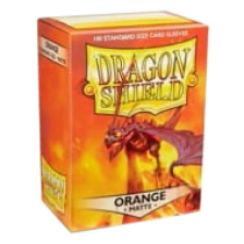 Dragon Shield Standard Sleeves - Matte Orange (100 Sleeves)