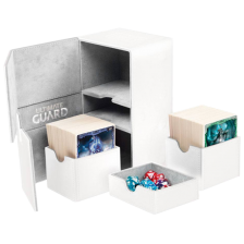 Ultimate Guard Twin Flip´n´Tray Deck Case 160+ Standard Size XenoSkin White